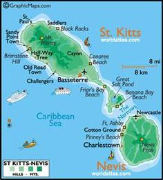 St kitts and Nevis, beautiful islands. So peaceful