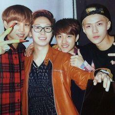 EXO Kai and Sehun and D.O. with Shin Jaewon