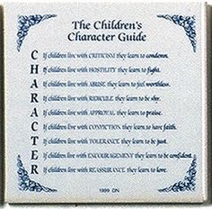 Inspirational Wall Hangings: Children's Character Guide