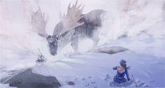 Snow Queen, Kimberly Delain on ArtStation at https://www.artstation.com/artwork/E2bVq