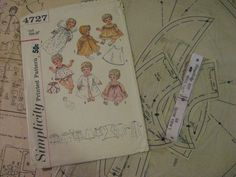ORIGINAL 20 inch Doll Clothes PATTERN 4727 Tiny Tears Betsy Wetsy Sweetie Pie #PatternforDollClothes #Simpliticy4727