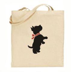 Scotty stencil tote bag, Scotty Puppy stencil