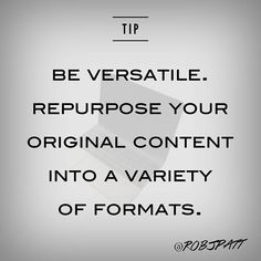 You've spent the time to create a beautiful and well-researched blog. Why let it only be a blog? You can repurpose it to be an infographic. Or a whitepaper. Or a podcast. The options are endless! Get the most you can out of your effort by creating your content in multiple formats.  #ContentMarketingTips #ContentCreation #MarketingTips #Marketing #Advertising #OC #ContentCreator #ContentMarketing #GICWLH #ContentStrategist #SocialMediaMarketing #PR #SocialMediaTips #SocialMediaStrategist #SMM… Social Media Strategist, Social Media Tips, Content Marketing, Social Media Marketing, Competitor Analysis, Instagram Accounts, Awesome, Amazing, Create Yourself