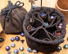 Bag of Sorting - Superior quality customizable dice bag - DIY Kit Diy Jewellery Pouch, Lets Roll, Do It Yourself Kit, Small Notebook, Dice Bag, Christmas Games, Big Black, Diy Kits, Dungeons And Dragons