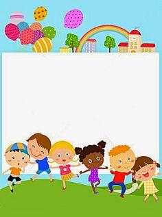Crown Printable, Printable Frames, Kids Background, Background Banner, School Border, Boarder Designs, School Frame, Borders And Frames, Writing Paper