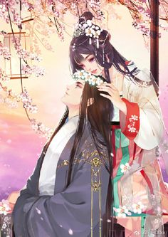 Huyền Phần Ngọc Nhiêu Manga Couple, Anime Love Couple, Cute Anime Couples, Couple Art, Chinese Drawings, Chinese Art, Writing Fantasy, Fantasy Art, Animated Man