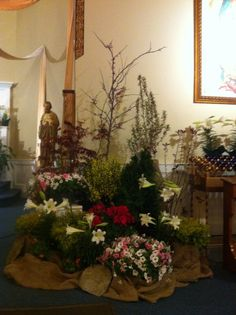 "St John Catholic Church Easter 2014.  The ""garden"" we created."
