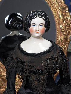 """CIRCA 1840'S CHINA LADY.  19 ½"""".  China shoulderh"""