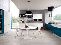 Cucina componibile laccata in legno ADELE PROJECT | Cucina sospesa - Cucine Lube