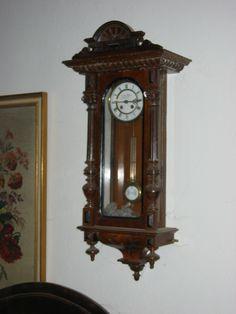 Wanduhr, Pendeluhr Wall Clocks, Antiques, Home Decor, Pendulum Clock, Restoration, Objects, Timber Wood, Antiquities, Antique