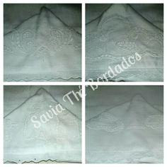 Toalha Fralda Capuz - feita com tecido toalha e bordado na própria fralda.