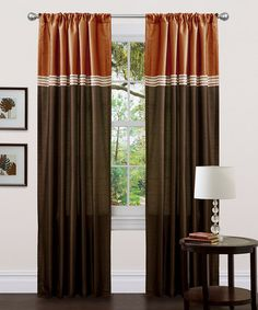 Take a look at this Brown & Rust Terra Curtain Panel - Set of Two by Triangle Home Fashions on #zulily today!