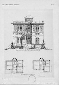 Il castello raggio a genova cornigliano edificato in for Villette moderne progetti