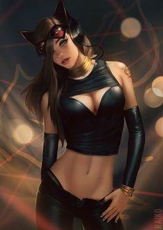 High Fashion Catwoman Pepper арт, Dc comics, женщина-кошка