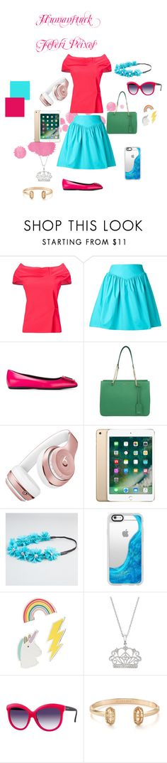 """Human Feferi"" by alkalineclaw on Polyvore featuring Roland Mouret, Moschino, Roger Vivier, DKNY, Beats by Dr. Dre, Full Tilt, Casetify, Red Camel, Bloomingdale's and Italia Independent"