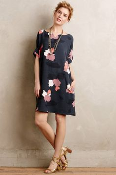 Love the cut, style, and floral pattern on this dress
