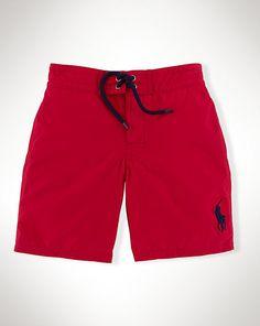 Solid Sanibel Swim Trunk - Shorts & Swim Boys' 6-14 Years - Ralph Lauren UK