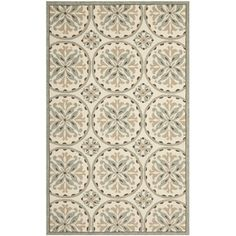 Safavieh Four Seasons Stain Resistant Hand-hooked Ivory Rug (8' x 10') | Overstock.com