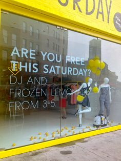 Saturday pop up store - event promotion