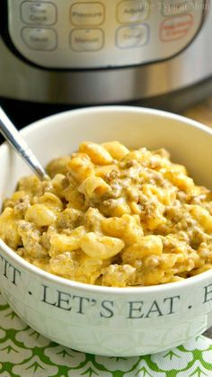 This Instant Pot cheeseburger macaroni recipe will take you back to your childhood! Just 10 minutes in your pressure cooker for this cheesy pasta dish.