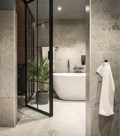 Bricmate Norrvange Light Grey Bathroom Design Inspiration, Bad Inspiration, Modern Bathroom Design, Bathroom Interior Design, Lavabo Design, Relaxing Bathroom, Bathroom Floor Tiles, Dream Bathrooms, Interiores Design