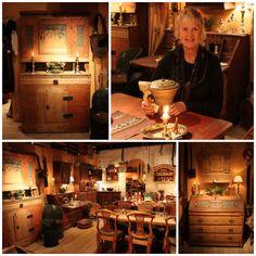 Loftet Antikviteter. Norwegian antiques. Primitives, Disney Frozen, Reindeer, Blue And White, Antiques, Party, Food, Antiquities, Antique
