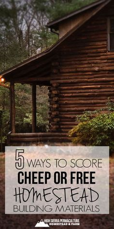 Tips to find free or cheap building materials and tools for your homestead. 5 creative ways to be thrifty and eco-friendly. #homestead #permaculture #homesteading #thrifty #free #buildingmaterials