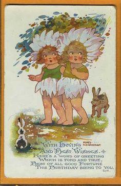 Agnes RICHARDSON - Flower Girls w Rabbits