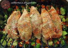 How to broil or bake Bone-In chicken breasts for shredded chicken.