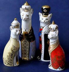 Royal Crown Derby Royal Cat Set Limited Edition of 450 sets http://www.bwthornton.co.uk/royal-crown-derby.php