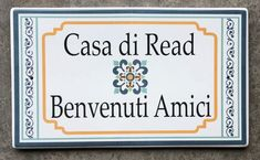 Santa Fe Address Plaques - Spanish Style House Number Plaques - by Classy Plaques Studio