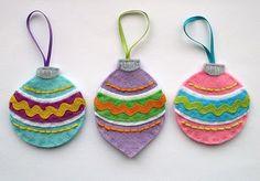 DIY Vintage Inspired Felt Ornaments.