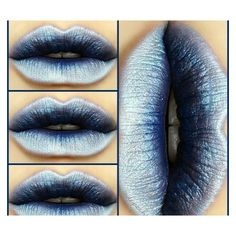 Ice blue lipstick shade goth makeup ❤ liked on Polyvore featuring beauty products, makeup, lip makeup and lipstick