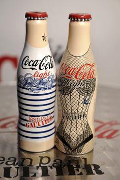 The Diet Coke bottles designed by Jean Paul Gaultier