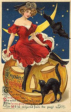 As the Clever Crow Flew: Vintage Halloween Postcards No. 1