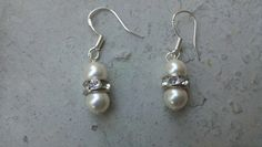 Sterling Silver Swarovski Pearl earrings by Shelithas on Etsy, $14.00