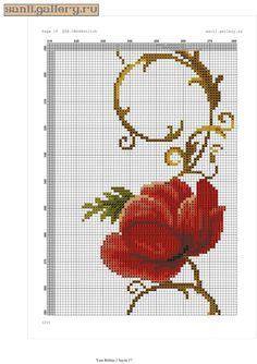 Gallery.ru / Фото #23 - gelincik.0120 - sanli Cross Stitch Embroidery, Cross Stitch Patterns, Large Tablecloths, Prayer Rug, Needlework, Diy And Crafts, Knit Crochet, Knitting, Free Pattern