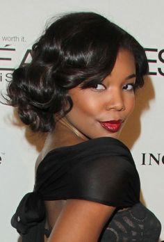 Gabrielle Union (curls and color)