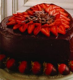 Victorian Strawberry Chocolate Heart Cake....Recipe: http://trib.com/lifestyles/food-and-cooking/all-things-chocolate-for-valentine-s-day/article_3a671a4d-ca7a-5926-a253-26b909739e16.html