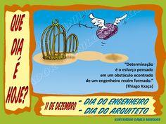 """SÉRIE """"QUE DIA É HOJE?"""" 35  11 de Dezembro - Dia do Engenheiro; Dia do Arquiteto.  #QueDiaÉHhoje #datas #DatasComemorativas #CalendarioSazonal #DiaDoArquiteto #DiaDoEngenheiro #TiagoKxaça"""