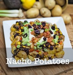 Vegan Nacho Potatoes