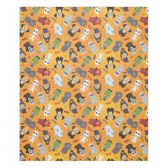 #customize - #Cute Halloween Monsters Pattern Fleece Blanket