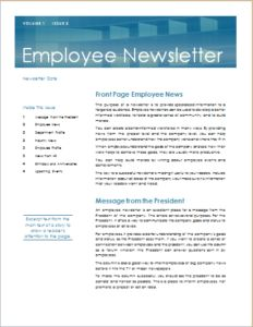 Newsletter Design | image of employee newsletter layout | ideas ...