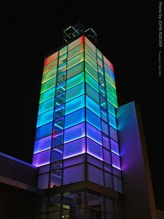 Colors on the OPCC Icon Tower, 21 May 2009 by photography.by.ROEVER, via Flickr