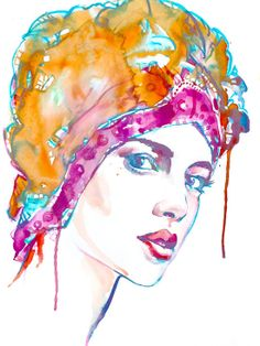 Giclee Art Print - Watercolor Painting Woman - Fashion Art