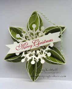 Stamping to Share: 8/29 Stampin' Up! Ornament Keepsakes . . . cards and decoration possibilities!