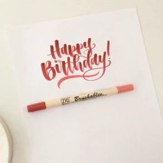 Happy Birthday to my Mom! I'm a day late due to a malfunctioning phone but she is the biggest supporter of my lettering so I had to do something here! The world became a better and brighter place the day you were born! ⠀⠀⠀ ⠀ Video at 3x speed using a Zig Brushables brush pen. ⠀⠀⠀ ⠀ #handlettering #lettering #zigbrushables #zigbrushpen #letteringvideo