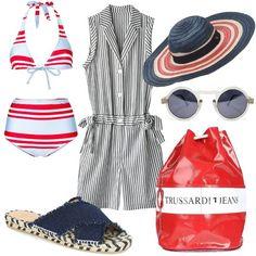 Stripes, American, Polyvore, Outfits, Image, Tops, Women, Fashion, Moda