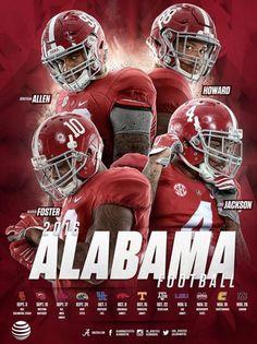 Alabama Crimson Tide 2016 Schedule - Allen, Foster, Howard, Jackson #Alabama…