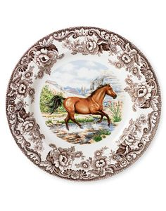 Vintage Horse Room Décor: We're hot to trot for these new and vintage horse-themed home decorating accessories. Antique-Style Plate: An American quarter horse adds a dashing accent to sophisticated Spode china. ($33.60; distinctive-decor.com)